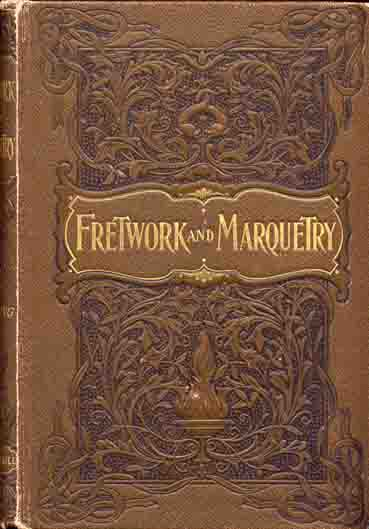old brown cover book about fretwork and marquetry