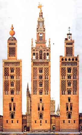 Giralda evolution stages through time