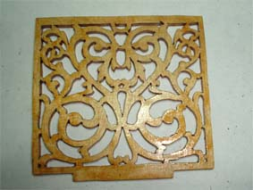 Fretworked side of Bacchus box