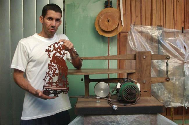Caladora artesanal sierra de calar casera - Sierra electrica para madera ...