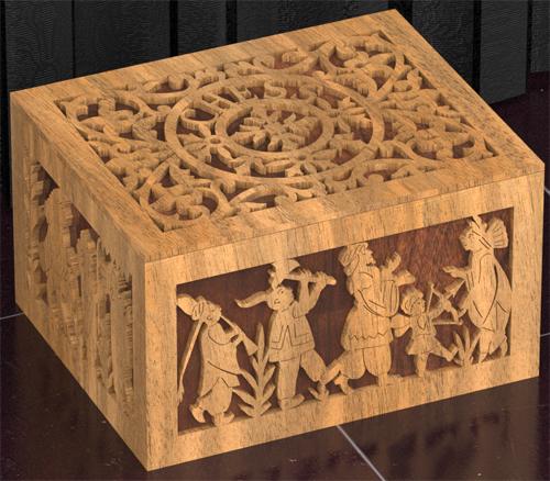 Caja de ajedrez plano para madera calada con sierra de - Madera para marqueteria ...