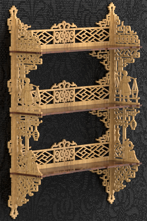Free Fretwork Shelf Patterns