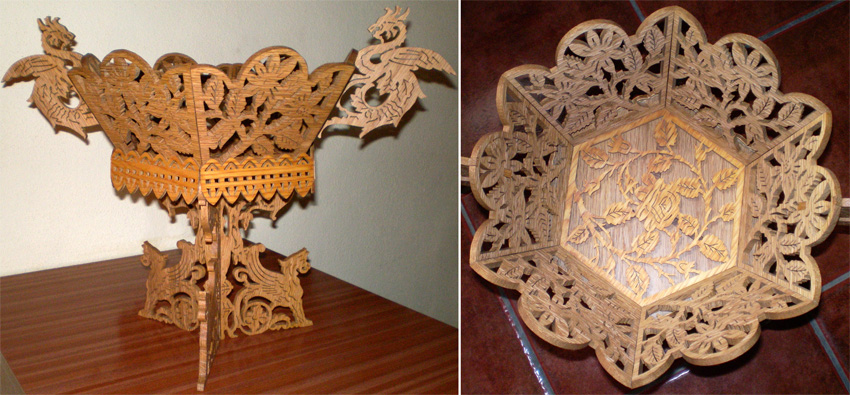 The Vase Of Dragons And Gryphs Scroll Saw Fretwork Pattern