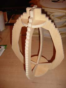 frame of the scroll saw fretwork egg clock made in plywood