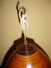 golden Mercury flying of Giambologna on the egg clock