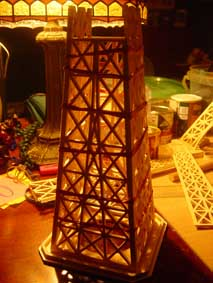 third section of the Eiffel Tower scroll saw fretwork wooden model