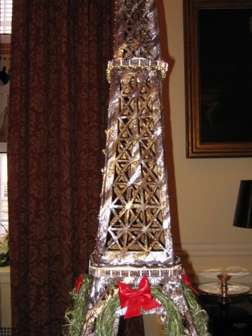 Detail of the Gingerbread Eiffel Tower model