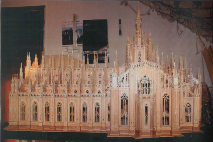 Scroll saw fretwork pattern of the Milan Cathedral