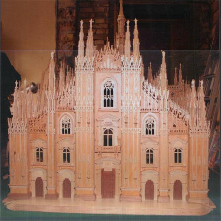 Wooden model of the Milan Cathedral