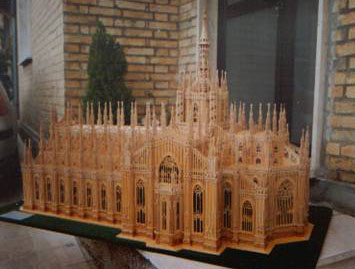 Cathedral of Milan in wood