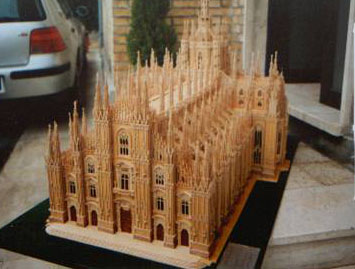 The cathedral of Milan, model in wood