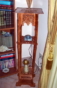 scroll saw fretwork stand
