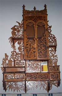 scroll saw fretwork wooden hanging cabinet