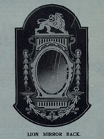 mirror frame with lion