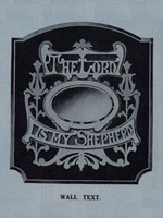 The lord is my shepherd wooden mirror frame