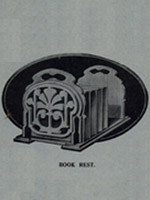 wooden book rest fretwork pattern