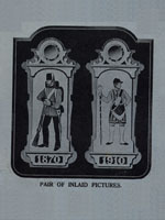 pair of inlaid pictures of  XIX century soldiers