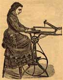 XIX century woman scrollsawing