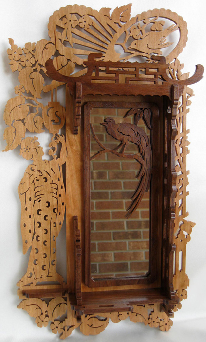 Cadre miroir japonais plans pour d coupage en bois for Miroir japonais