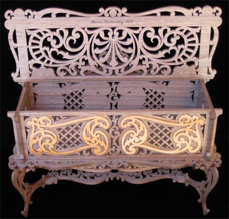 Caja joyero plano para madera calada con sierra de - Madera para marqueteria ...