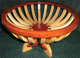 wooden scroll saw fruit basket bowl