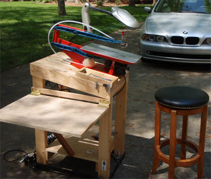 Wooden picnic table patterns, scroll saw table