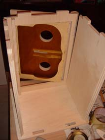 interior of the wooden scroll saw fretwork vault