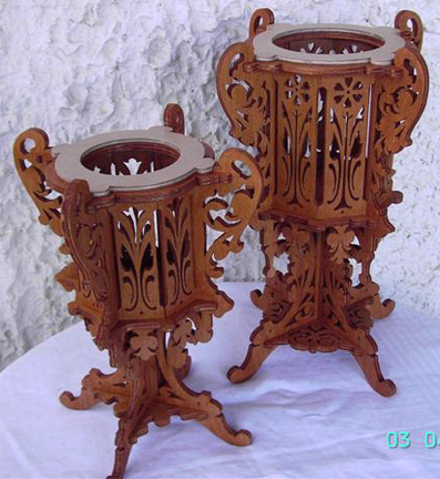 Two Vases Scroll Saw Fretwork Pattern