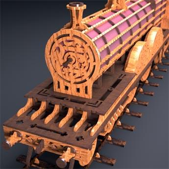 Scroll saw train patterns